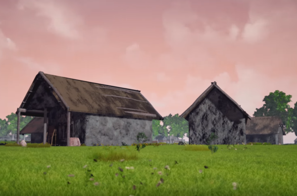 screenshot from virtual reconstruction of neolithic villages